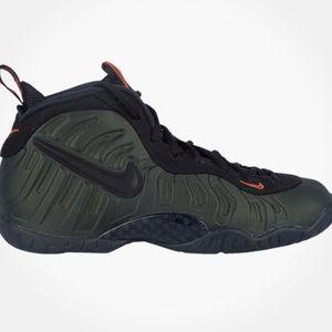 Nike Little Posites Pro Foamposites Army Green 6.5